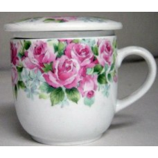 10oz Tea Cup w/Lid & Filter - Pink