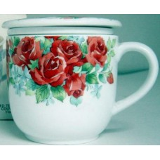 10oz Tea Cup w/Lid & Filter - Red