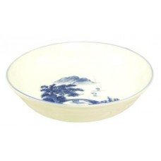 "5 1/4"" Round Dish with Blue design"