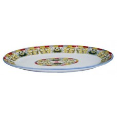 "10"" Oval Plate - Lotus Pattern"