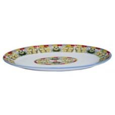 "10"" Oval Plate - Lotus Pattern"