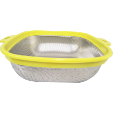 "10"" Rectangle Strainer with Plastic Handle"