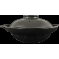 "10"" Clay Pot - Shallow (Black)"
