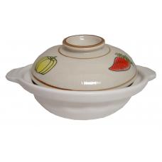 """10"""" Clay Pot-Shallow (White)"""