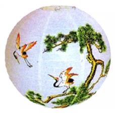 "16"" Lantern - Crane And Tree"