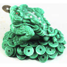 """(3 ¼""""H X 4 ½""""W) Money Toad with Coins"""