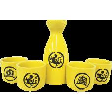 """Sake Set: (4) 1 ¾"""" (1.5 oz) Cups, (1) 5"""" (3.5 oz) Sake Server"""