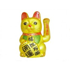 "11"" Lucky Cat with Moving Hand"