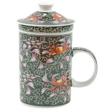 """12oz (4 1/4""""H) Cup w/Lid & Strainer"""