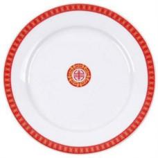 "6"" Round Plate w/Red Design"