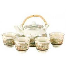 24oz Tea Pot; 4 (4oz) Cups Set