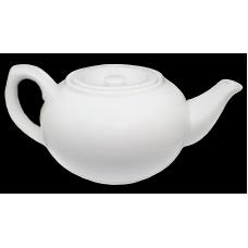"3.62"" H Tea Pot White Porcelain"