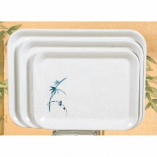 "Blue Bamboo - 17"" x 12 5/8"" Square Tray"