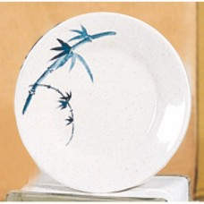 "Blue Bamboo - 10 3/6"" Round Plate"