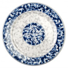 "Blue Dragon - 15 1/2"" Round Plate"