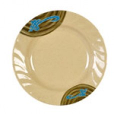 """Wei - 10 1/2"""" Curved Rim Round Plate"""