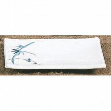 """Blue Bamboo - 8 1/4"""" x 5 5/8"""" BBQ Plate - L"""