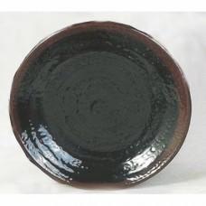 """Temoku - 7 1/2"""" Round Plate"""