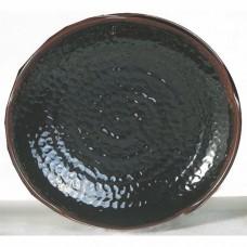 """Temoku - 12"""" Lotus Shape Plate"""