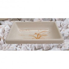 "Gold Orchid - 3 3/4"" x 2 1/2"" Square Sauce Dish"
