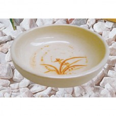 "Gold Orchid - 4 1/2"" Bowl (Flat)"