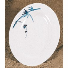 "Blue Bamboo - 12"" x 8 5/8"" Oval Platter"