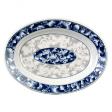 "Blue Dragon - 13"" x 9 3/4"" Deep Oval Platter"