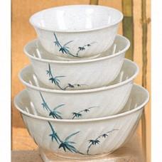 """Blue Bamboo - 8 4/5"""" Soba Bowl (XL)"""