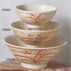 "Gold Orchid - 6"" Soup Bowl"