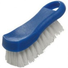 "6"" x 2 1/2"" x 2"" H - Blue Plastic Cutting Board Brush"