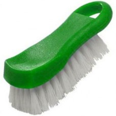 "6"" x 2 1/2"" x 2"" H - Green Plastic Cutting Board Brush"