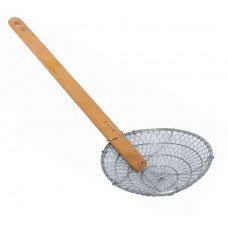 "12"" Coarse Mesh, Bamboo Handle Skimmer"