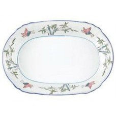 "11.5"" Oval Plate - Bamboo's Pattern"