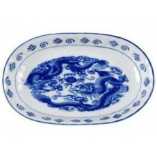 "9.5"" Oval Plate - Dragon Pattern"
