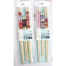 3-Pair Bamboo Chopsticks