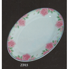 "10"" Oval Plate - Rose Pattern"