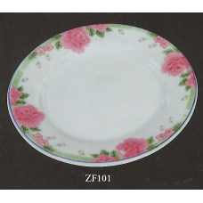 "10"" Plate - Rose Pattern"