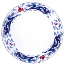 "10"" Plate - Ceramic Blue Dragon Pattern"