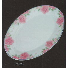 "12"" Oval Plate - Rose Pattern"