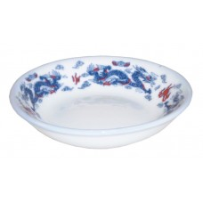 "3.75"" Sauce Dish - Ceramic Blue Dragon Pattern"