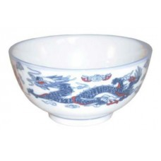 "4.5"" Rice Bowl - Ceramic Blue Dragon Pattern"