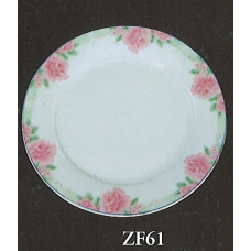 "6"" Plate - Rose Pattern"