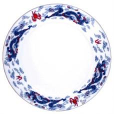 "6"" Plate - Ceramic Blue Dragon Pattern"