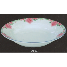 "9"" Deep Plate - Rose Pattern"