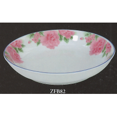 "8"" Plate - Rose Pattern"