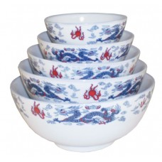 "9"" Bowl - Ceramic Blue Dragon Pattern"