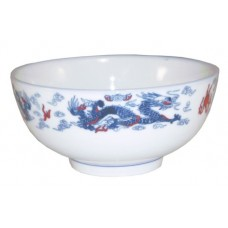 "5.5"" Bowl - Ceramic Blue Dragon Pattern"