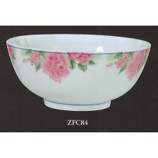 "8"" Bowl - Rose Pattern"