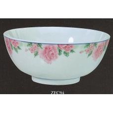 "9"" Bowl - Rose Pattern"