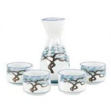 (4) 1.5oz Sake Cups & (1) 5oz Sake Server